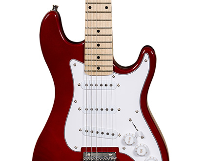 GUITARRA INFANTIL MICHAEL STANDARD JUNIOR GM219N MR ? METALLIC RED ? VERMELHO